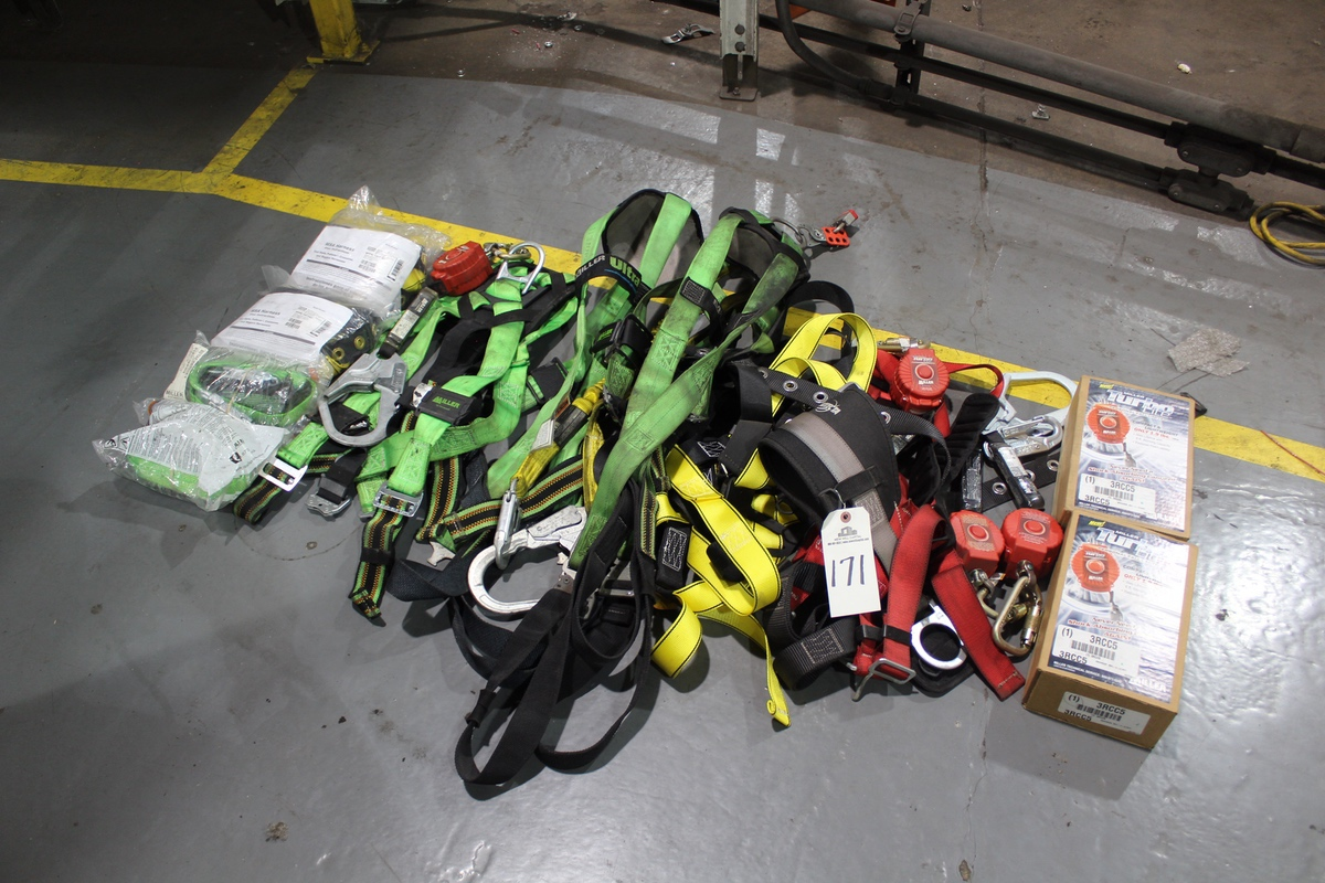 Lot of Fall Safety Harnesses   Rig Fee: Hand Carry or Contact Rigger