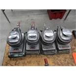 Lot - (4) Ingersoll-Rand Model 312A Pneumatic Block Sanders; 8,000 RPM