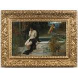 EDUARD VEITH (1858-1925): THE END OF LOVE (SEDUCED AND ABANDONED) Around 1900 37x58 cm Oil on