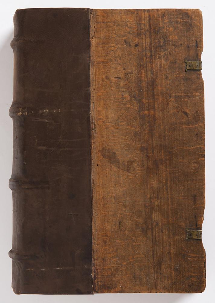 FRANCESCO PETRARCA (1304-1374): DE REMEDIIS UTRIUSQUE FORTUNAE 1501; Bohemia, Prague 32x22x5 cm