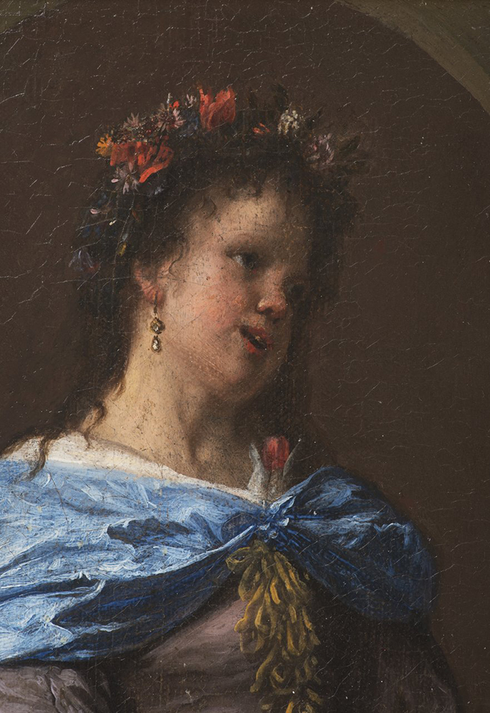 FRANCESCO GUARDI (1712-1793): PORTRAIT OF A YOUNG LADY 1780s; Italy 18x16,5 cm Oil, canvas on wood - Image 2 of 3