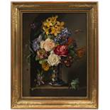 JOSEF SCHUSTER (1812-1890): FLORAL STILL-LIFE 1841 60x47 cm Oil on wood panel. Signed lower right: