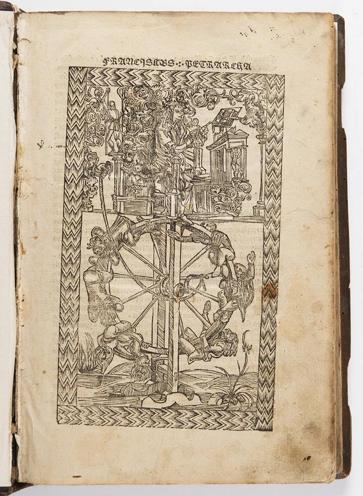 FRANCESCO PETRARCA (1304-1374): DE REMEDIIS UTRIUSQUE FORTUNAE 1501; Bohemia, Prague 32x22x5 cm - Image 2 of 3