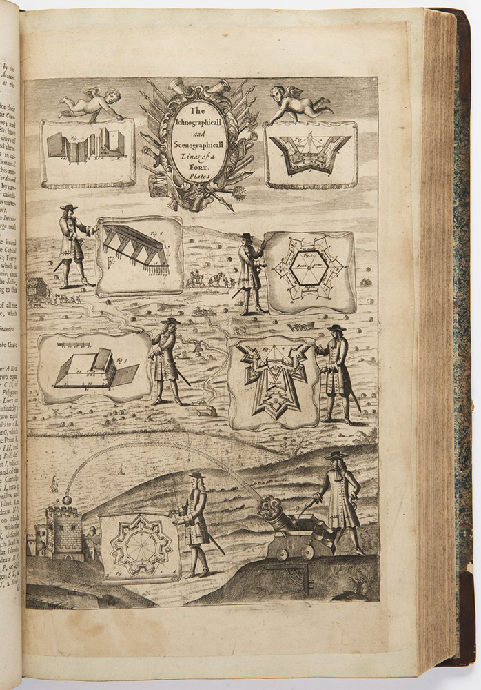 RICHARD BLOME (1635-1705): THE GENTLEMAN'S RECREATION 1686; London, Roycroft 42x28x6 cm Two books in - Image 2 of 3