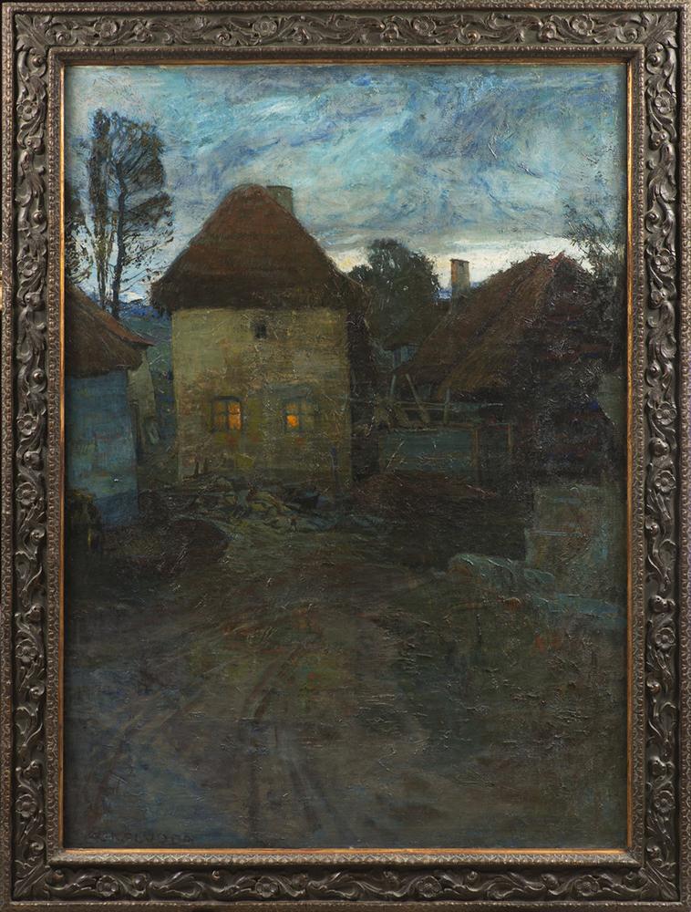 ALOIS KALVODA (1875-1934): NOCTURNE 1901-1902; Bohemia, Prague 134x96 cm Oil on canvas. Signed