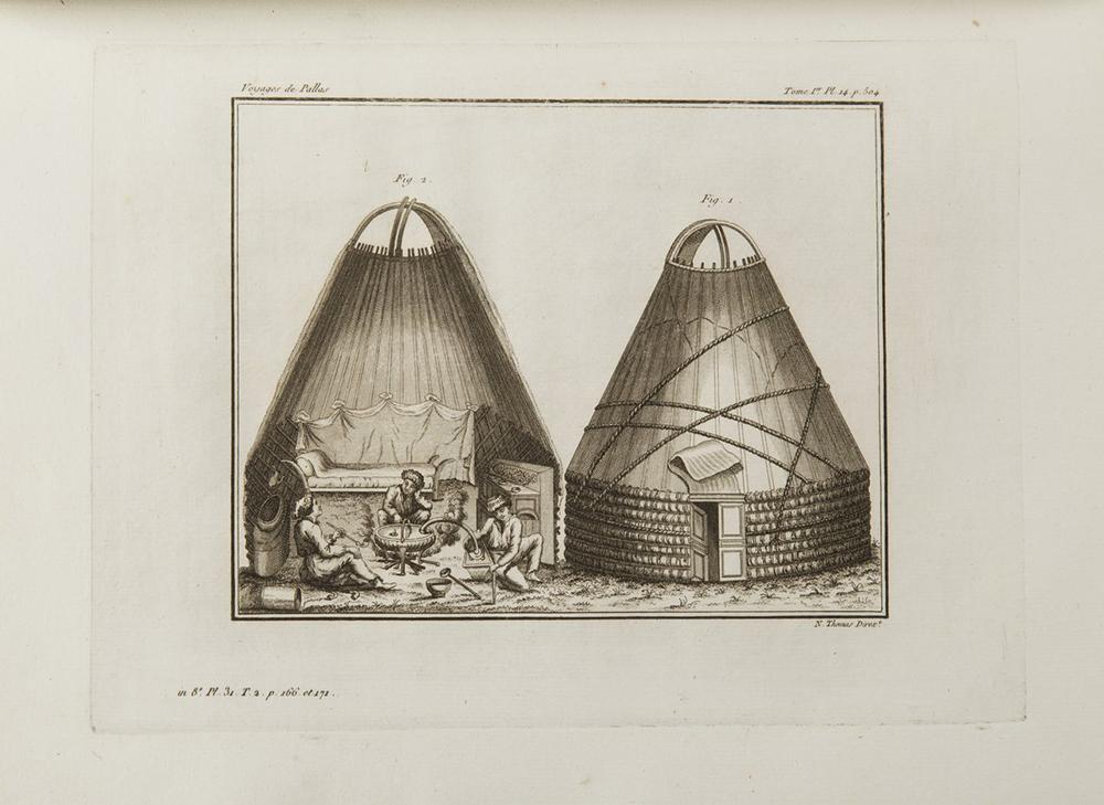 PETER SIMON PALLAS (1741-1811): VOYAGES DU PROFESSEUR PALLAS, DANS PLUSIEURS PROVINCES DE L'EMPIRE - Image 3 of 5