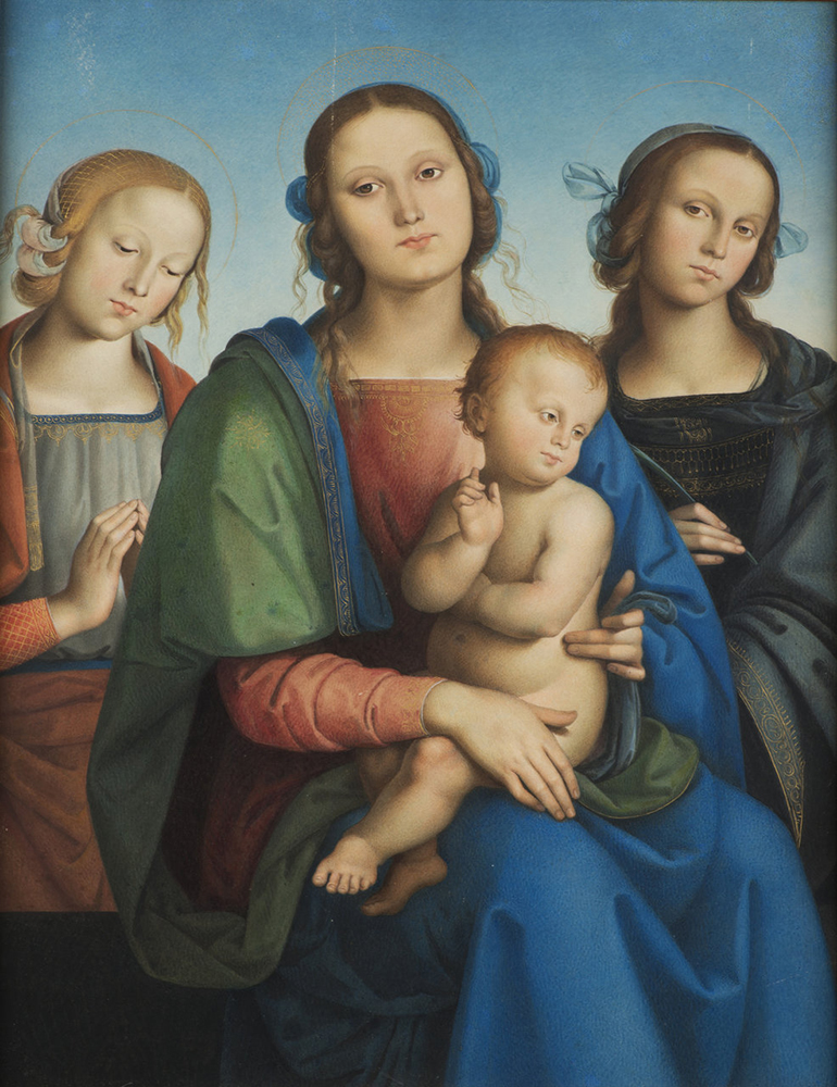 UNKNOWN ITALIAN MASTER: MADONNA AND CHILD WITH SAINT CATHERINE AND SAINT TERESA Early 19th century