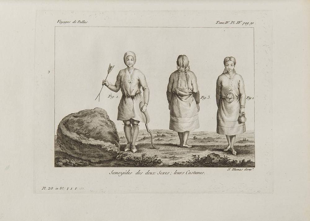 PETER SIMON PALLAS (1741-1811): VOYAGES DU PROFESSEUR PALLAS, DANS PLUSIEURS PROVINCES DE L'EMPIRE - Image 4 of 5