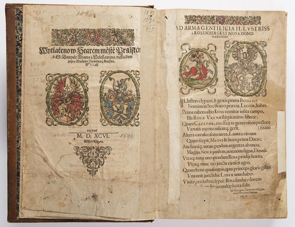 PIETRO ANDREA MATTIOLI (1501-1577): A HERBARIUM 37x26x10 cm The Czech edition with colored