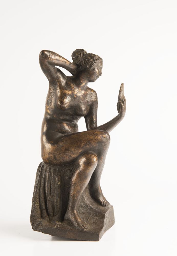 UNKNOWN ITALIAN MASTER: ALLEGORY OF VANITY Late Renaissance, around 1600; Italy 26 cm Patinated