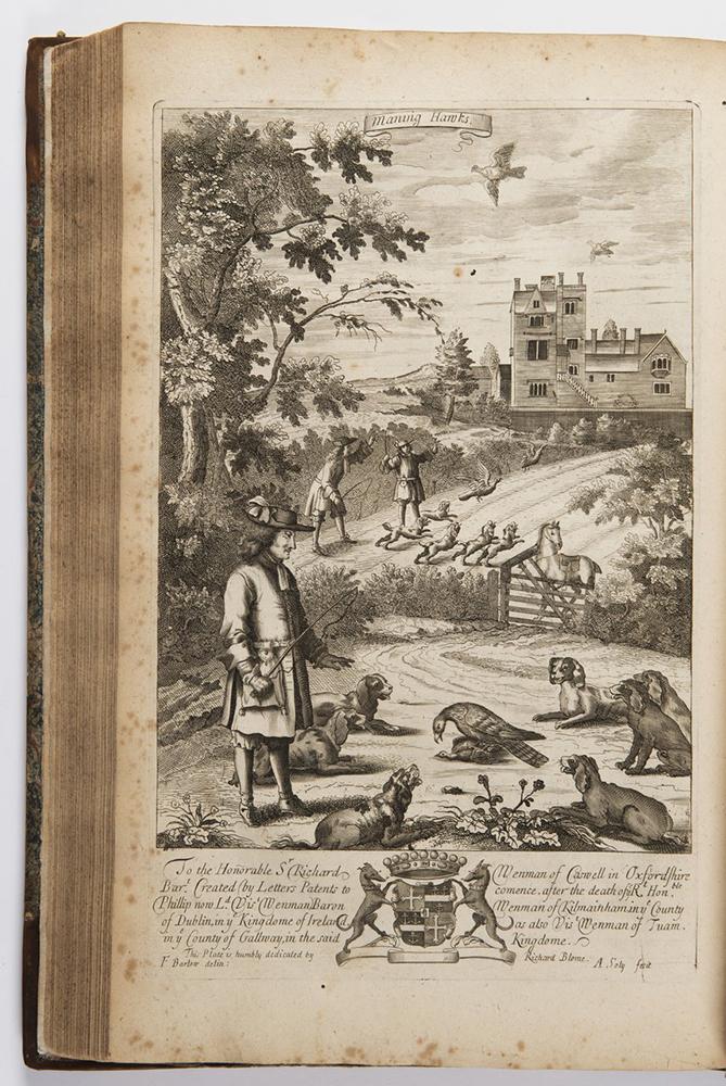 RICHARD BLOME (1635-1705): THE GENTLEMAN'S RECREATION 1686; London, Roycroft 42x28x6 cm Two books in - Image 3 of 3