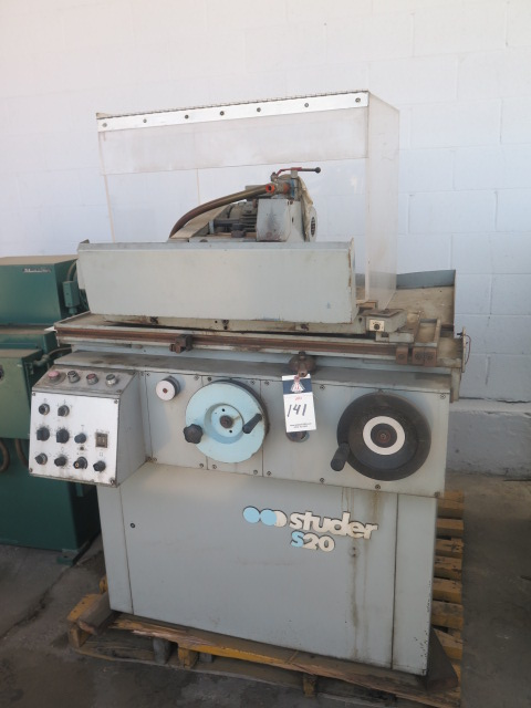 "Lot 141 - Studer Type S20-12 6"" x 12"" Cylindrical Grinder s/n 627.26 w/ Motor Driven Head, Tailstock"