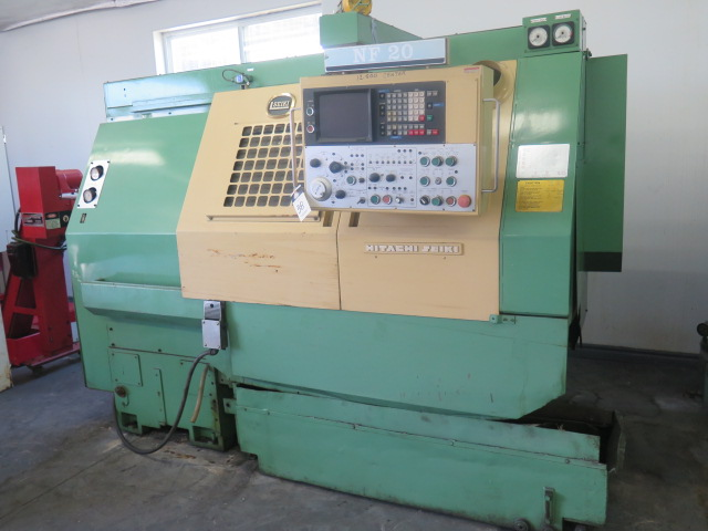 Lot 38 - Hitachi Seiki NF-20 Twin Turrer CNC Turning Center w/ Fanuc Controls, 12-Station Main Turret, 8-