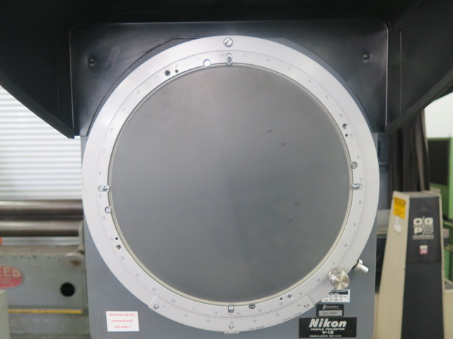 "Lot 51 - Nikon V-12 12"" Optical Comparator w/ Surface and Profile Illumination, 10X and 50X Lenses"