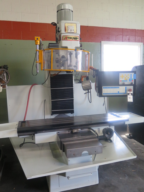 Lot 90 - Atrump mdl. B6FC 3-Axis CNC Vertical Mill s/n B6FC-287 w/ CNC Controls, 0-3950 Controlled RPM, 40-