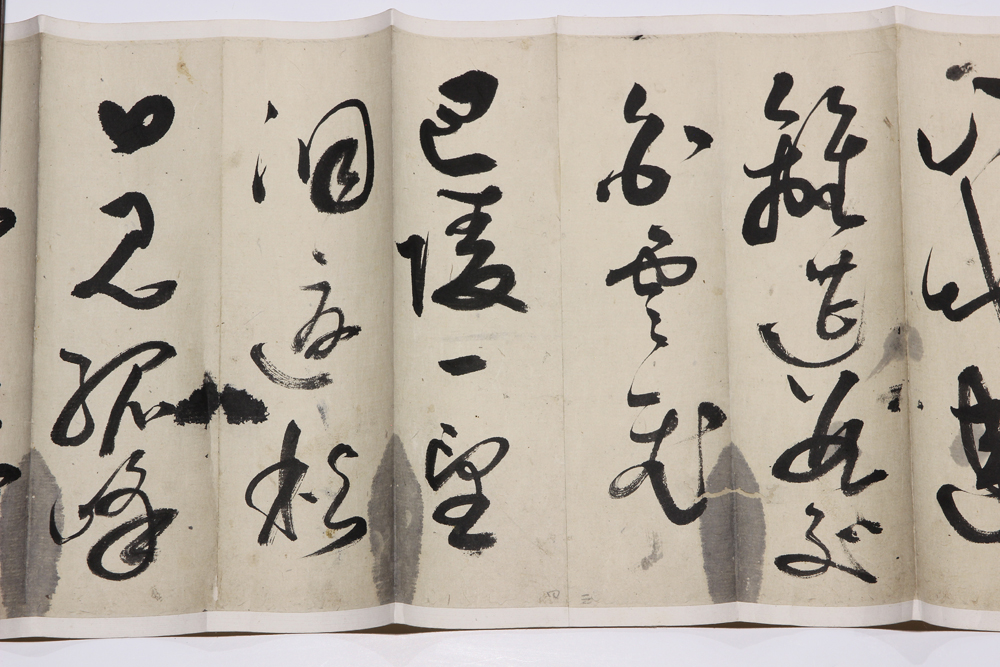 Lot 5082B - Manner of Li Jian (Chinese), Calligraphy in Running Script, ink on paper handscroll, bearing two