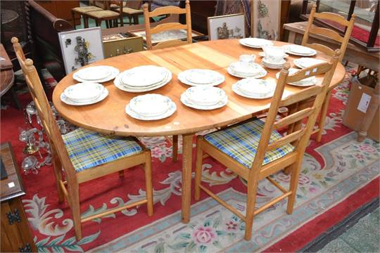 Tremendous An Ercol Pine Extending Dining Table And Four Pine Short Links Chair Design For Home Short Linksinfo