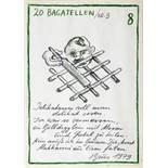 Extra-Ausgabe IV. Vier Zeichnungen, ein Multiple. 1979. 21 : 15 cm. Alle signiert, datiert und