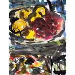 Friedemann Hahn. Maler. Ein Aquarell und neun Radierungen, davon zwei aquarelliert. 1988. 49,0 :