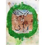 Imre Reiner. An die Stille. Aquarell und Tusche. 1967. 40,2 : 29,2 cm. Signiert und datiert.