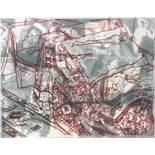 Marcel Odenbach. Interieur. Multiple. Zwei Zeichnungen (Rot- bzw. Bleistift), eine über