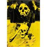 Michael Deistler. Skulls. Überarbeitete Fotomontage. 1996. 70,0 : 50,0 cm. Rückseitig signiert und