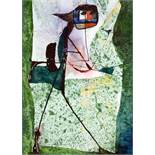 Imre Reiner. Der Sommerkentaur. Aquarell und Tusche. 1963. 39,5 : 28,5 cm. Signiert. Rückseitig