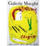 Marc Chagall. Le fond jaune (The yellow background). Farblithographie. 1969. 64 : 48 cm (78 : 57