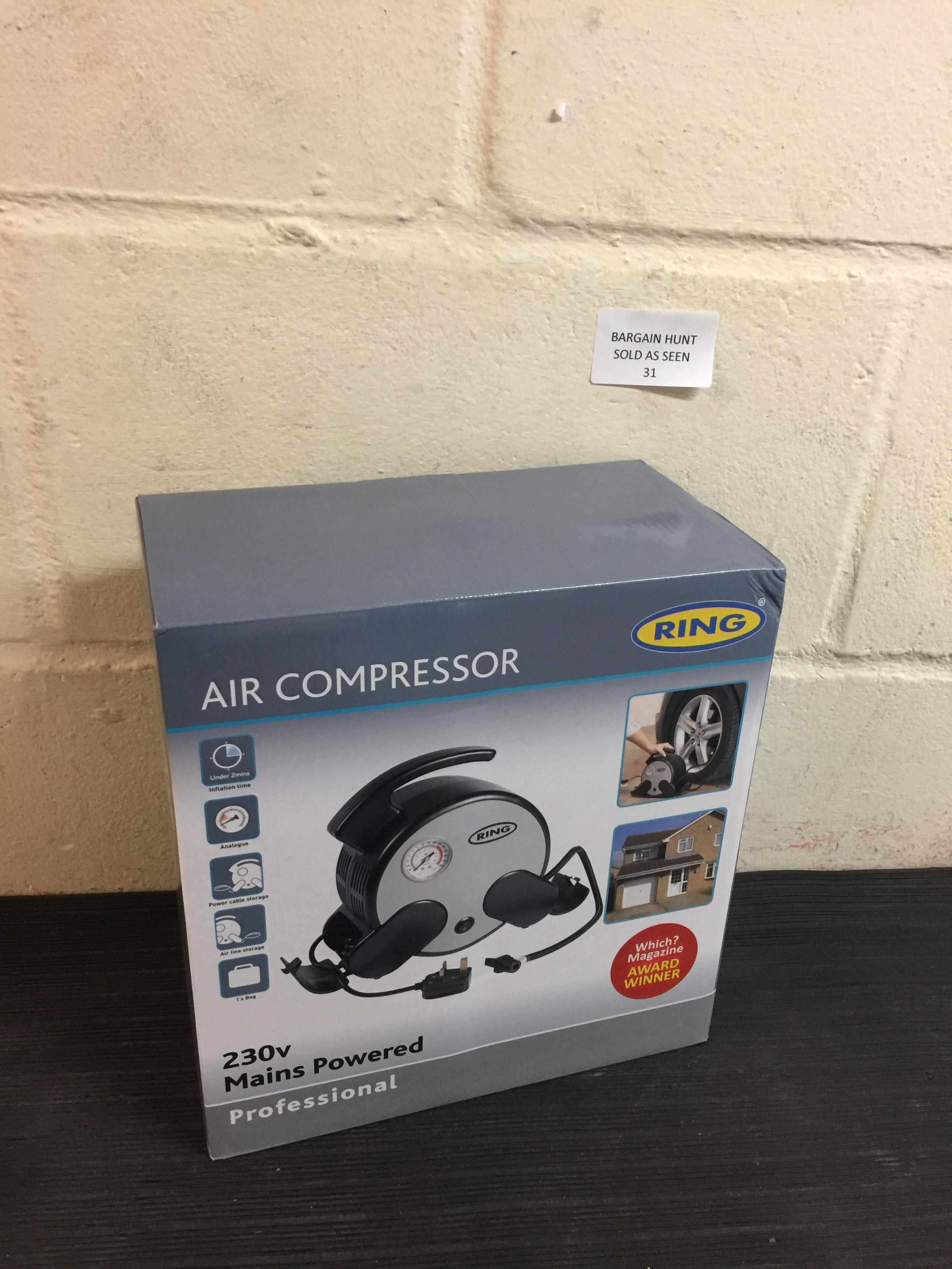 Lot 31 - Ring Professional Air Compressor