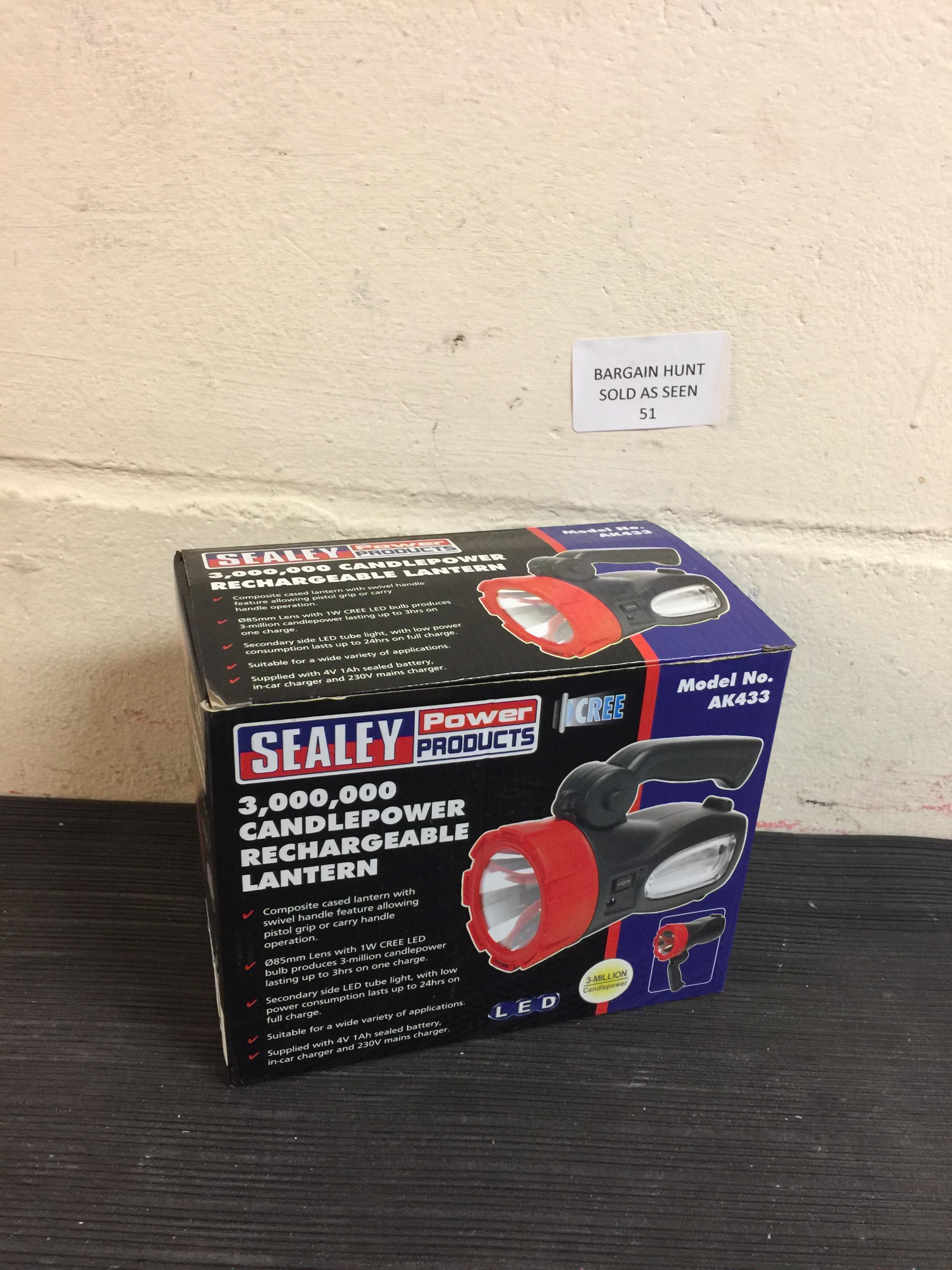 Lot 51 - Sealey Rechargeable Lantern