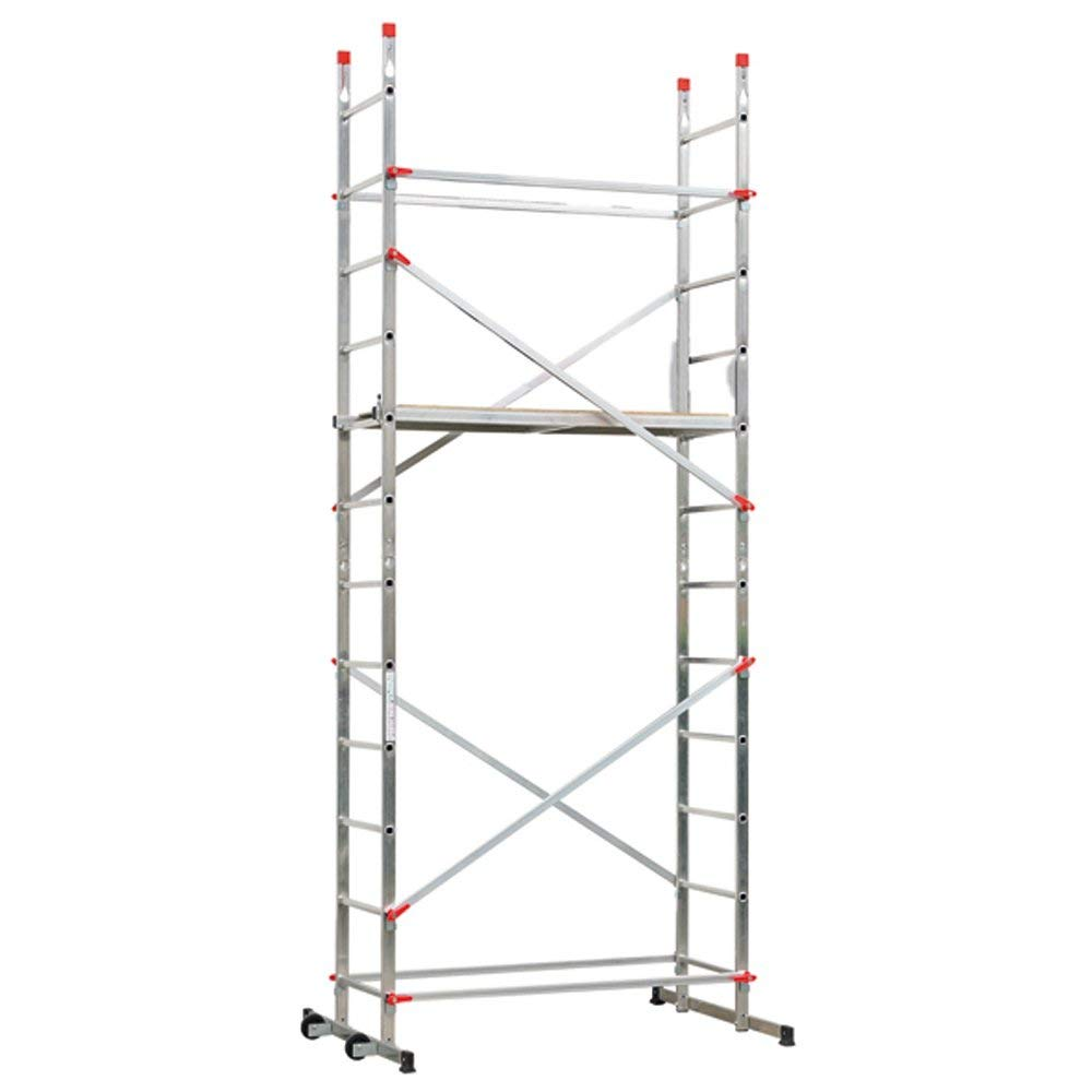 Lot 6 - Hailo 9459-551 1-2-3 500 Aluminium Home and Trade Light DeLuxe Scaffold RRP £335