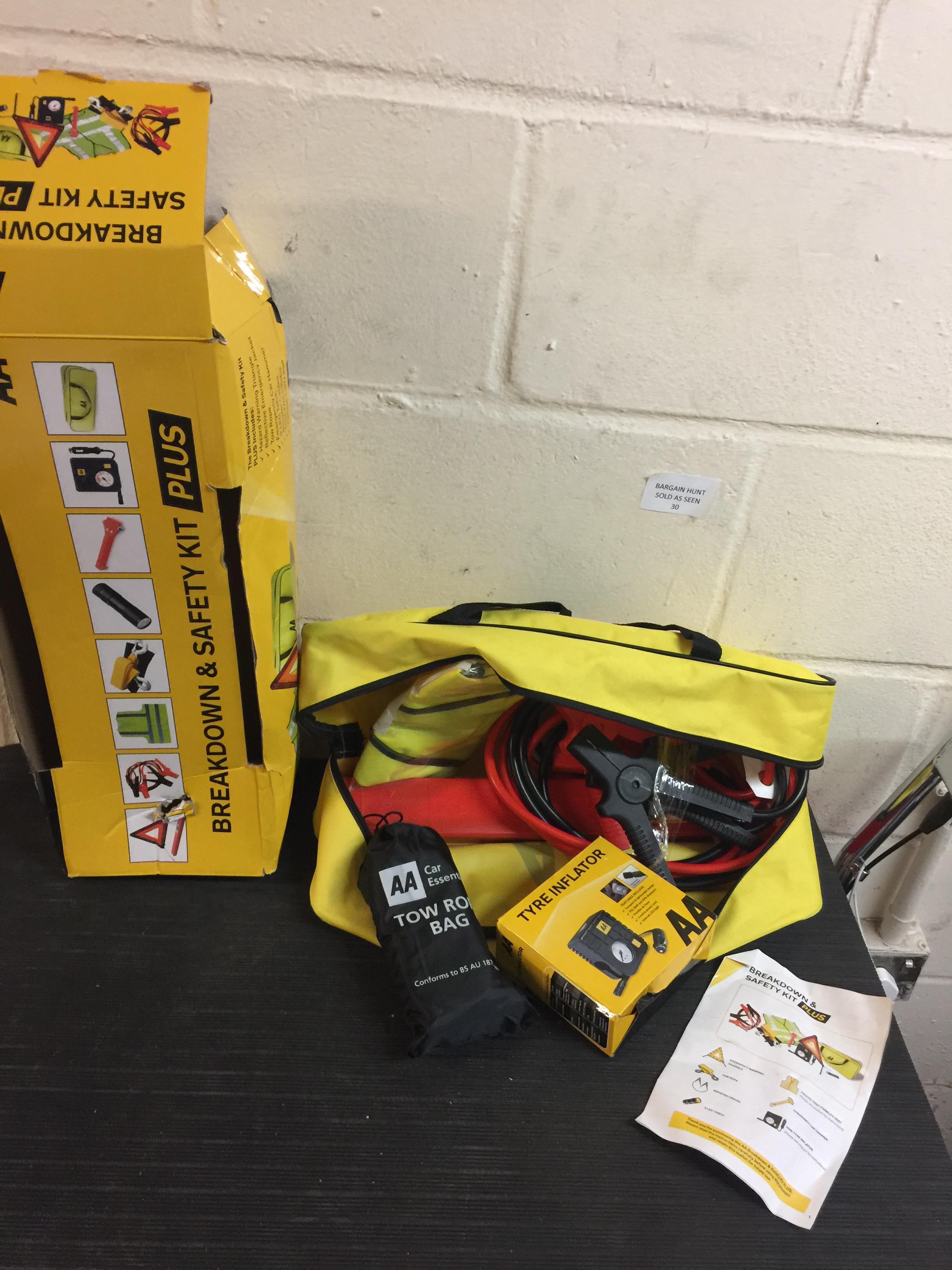 Lot 30 - AA Breakdown & Safety Kit Plus