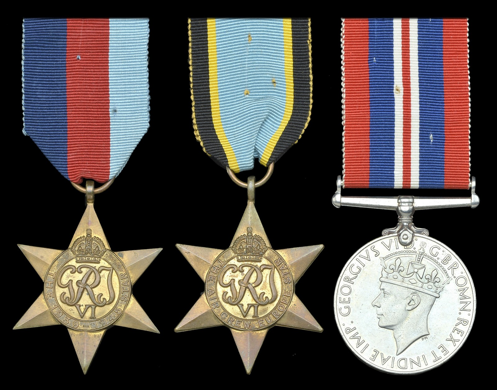 Lot 470 - Three: Flying Officer R. J. Bordiss, Royal Air Force Volunteer Reserve, who was killed in action