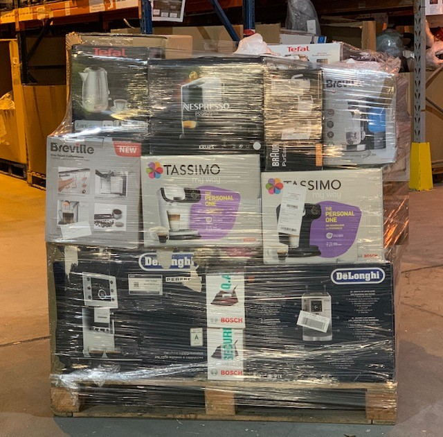 Lot 3 - 1 x Mixed pallet of 66 items, mixed brands RAW returns Approx RRP £3840.64
