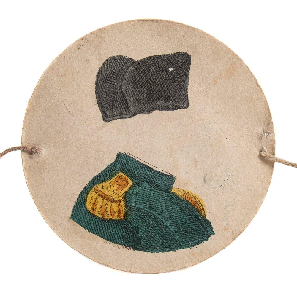 Lot 14 - An early 19th century thaumatrope of Napoleon Bonaparte:,