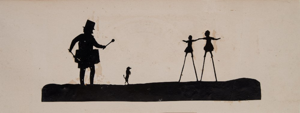 Lot 39 - A group of four early 19th century handmade scissor cut silhouette cards:,