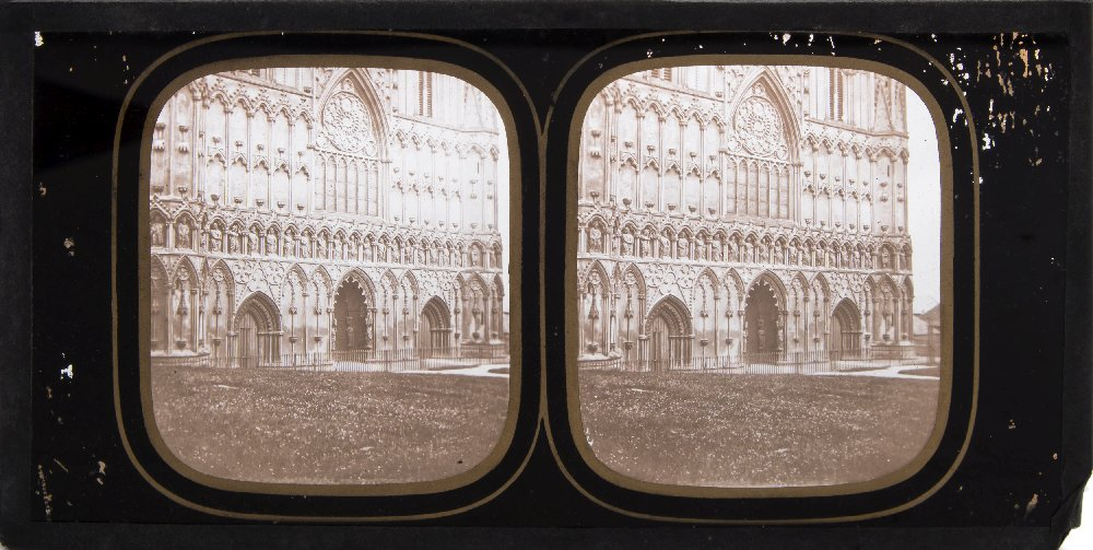 Lot 43 - A group of twelve mid-19th century diapositive stereoscopic plates by Ferrier & Soulier and others:,