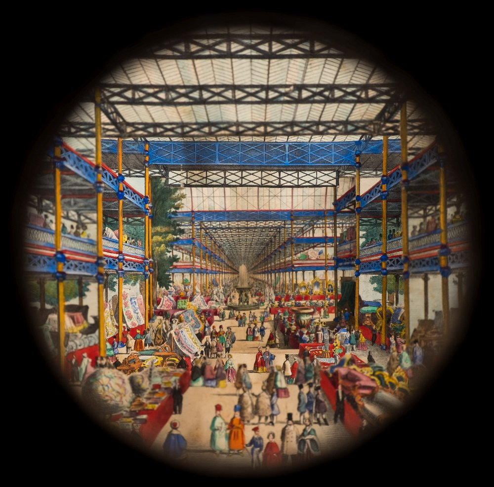Lot 55 - Peep View : ' The Interior of the Crystal Palace in London,