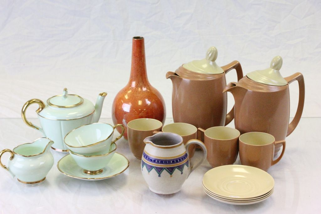 Lot 36 - Vintage ceramics to include Paragon breakfast set for Aspreys, Carlton Lustre & Poole
