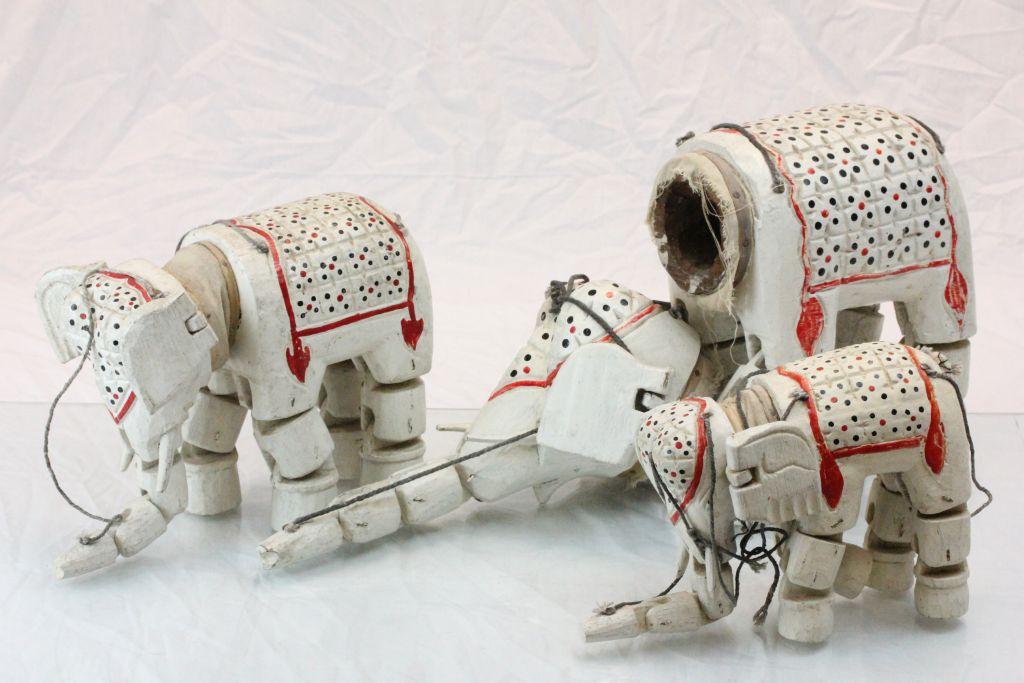 Lot 34 - Three Asian elephant puppets