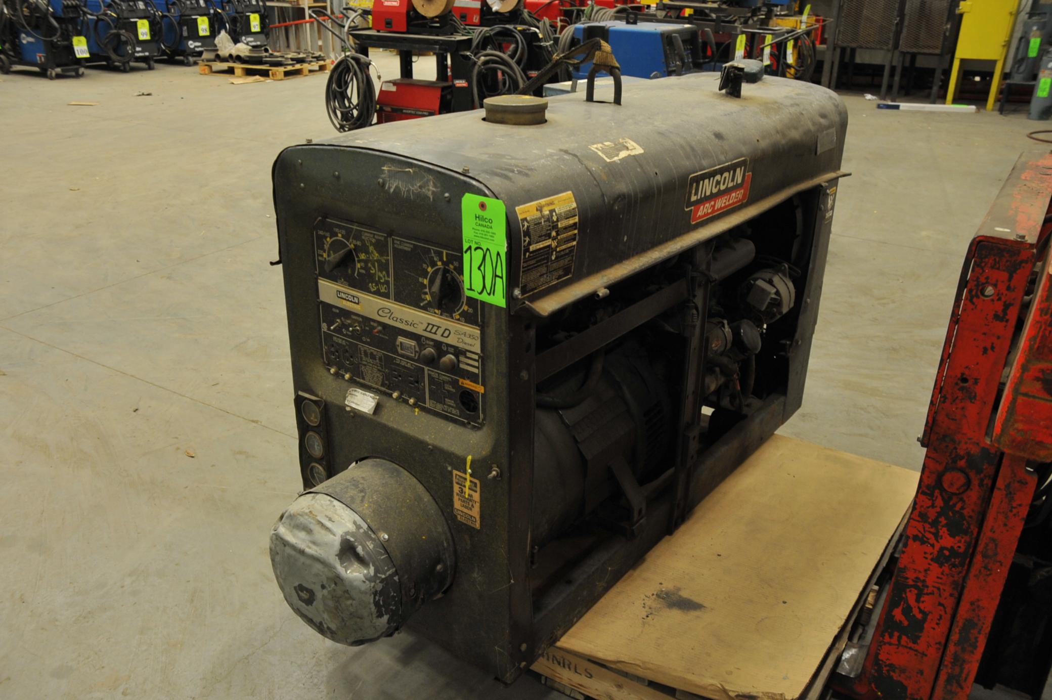 Lincoln Model TMD 27 Class 3 D SA 350 Diesel Welder Generator