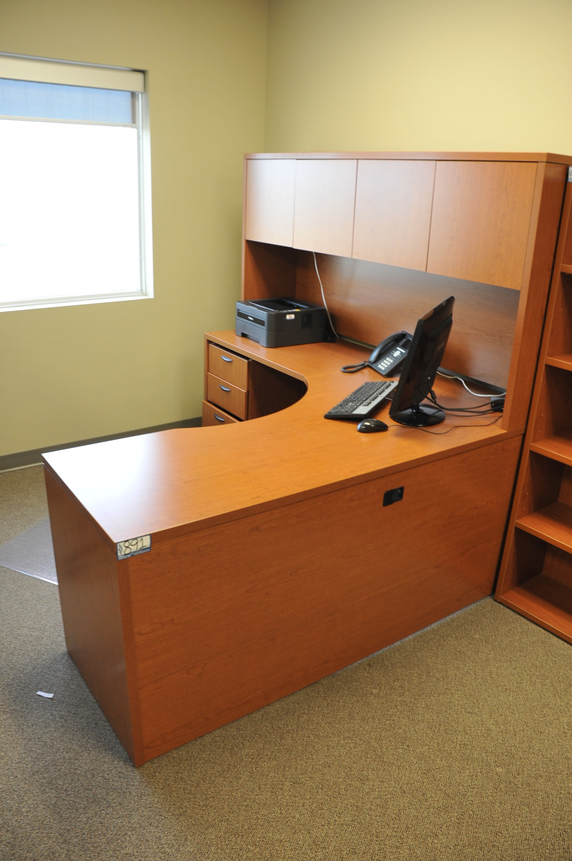 Lot 891 Hon Office Furniture Fixtures Equipment L Shaped Desk With