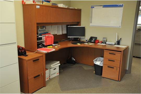 Lot Of Hon Office Furniture Fixtures Equipment L Shaped Desk With
