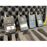 4 x Shure UR1 Transmitters In Plastic Case - Frequency Range: J5E - Ref: 402