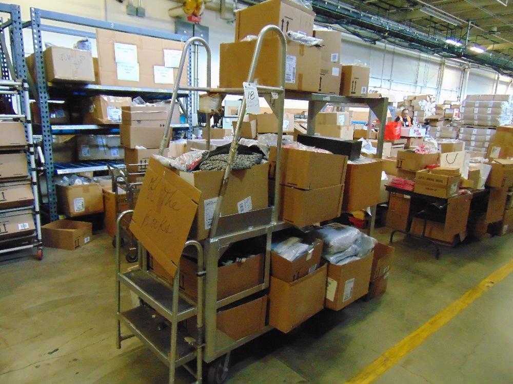Lot 18 - Aluminum Inventory Transport Cart (No Contents)