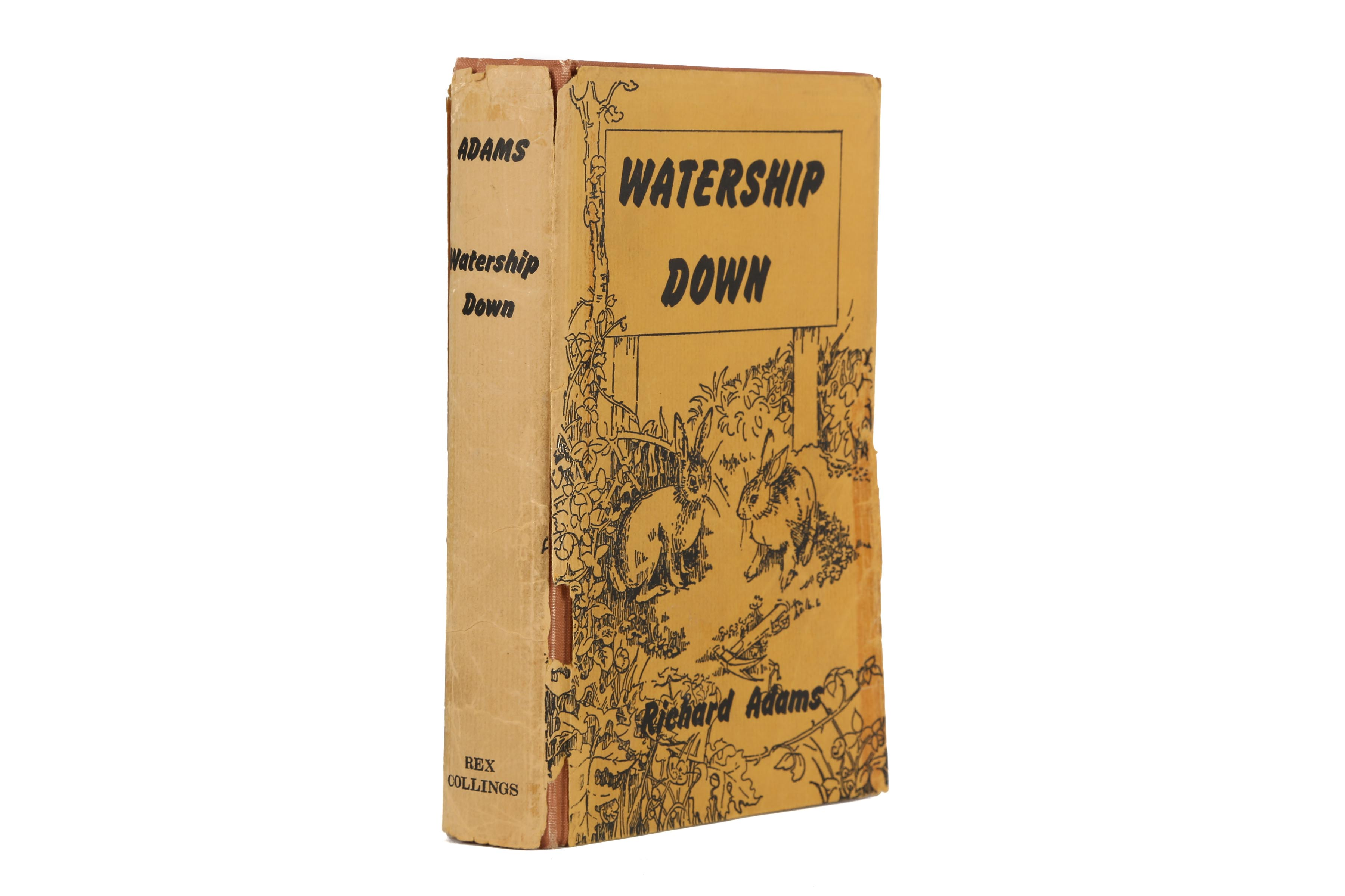 Lot 2 - Adams (Richard) Watership Down, FIRST EDITION, author inscription on front free end paper, slight