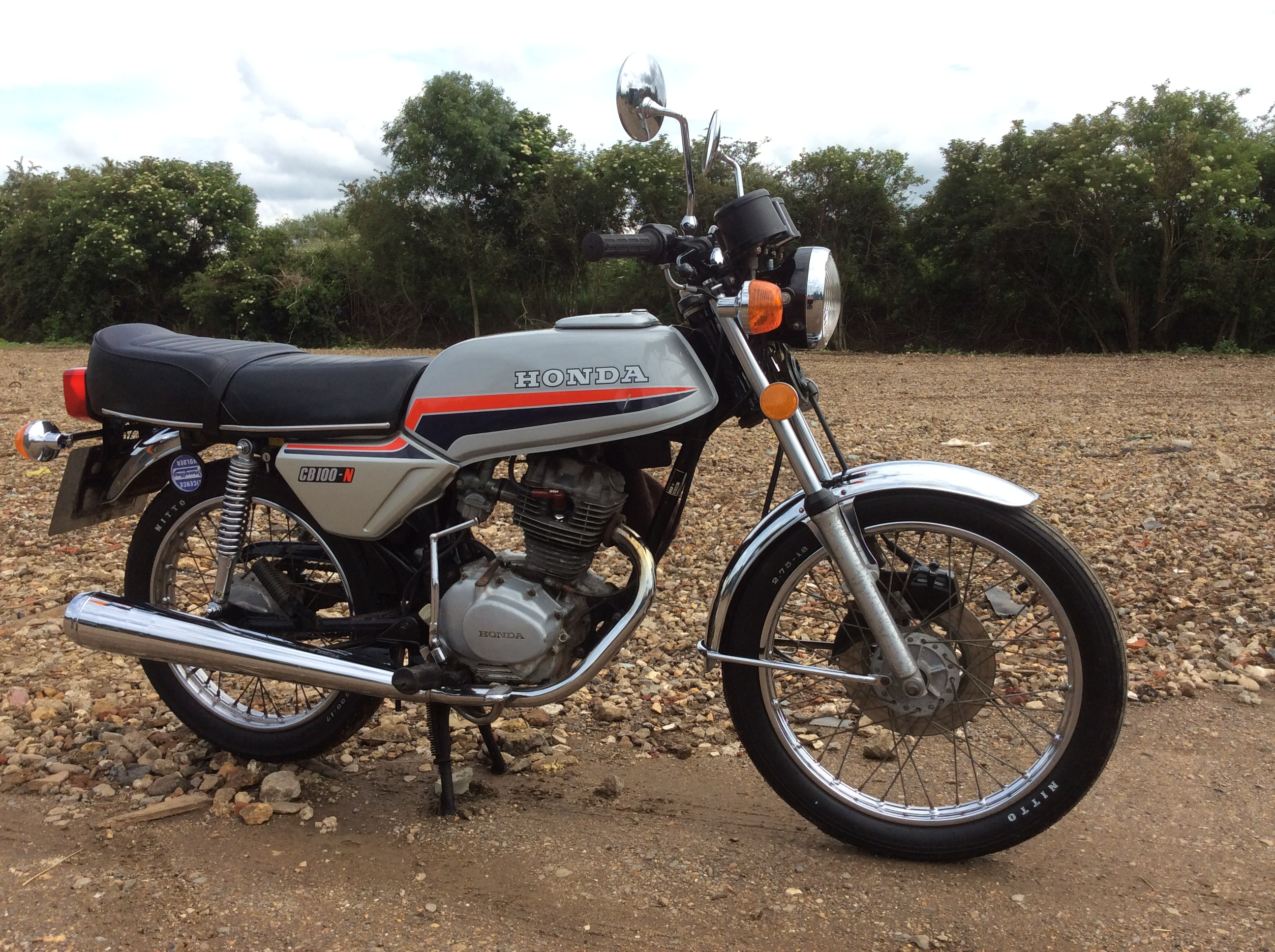1982 100cc Honda CB100 N Reg No BEG 215Y Frame CB1001021802