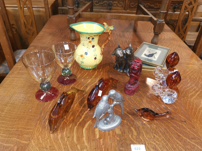 Lot 154 - 4 Wedgwood glass animals etc