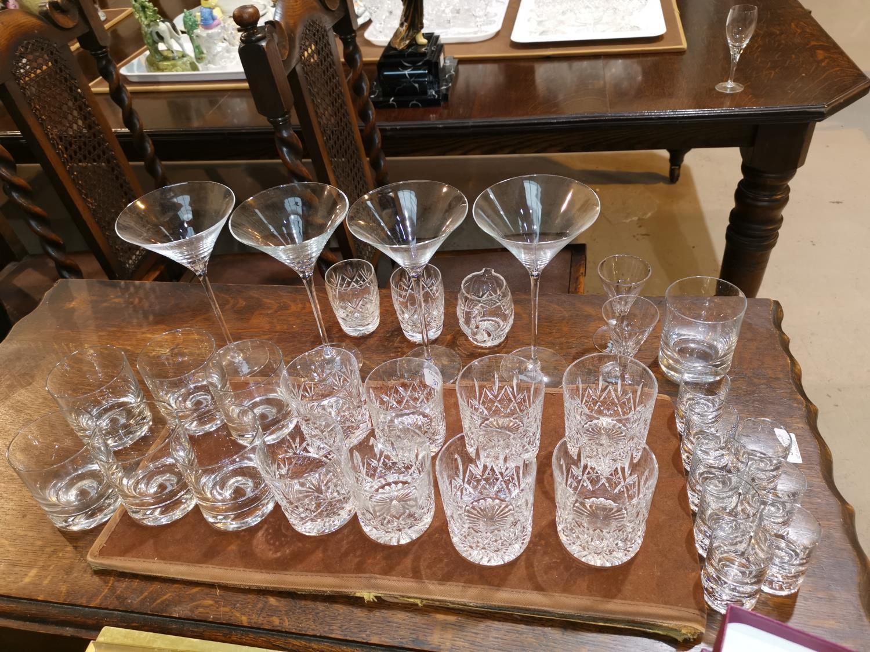 Lot 153 - Stuart cut drinking glasses and other glasses
