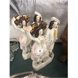 A pair of Victorian Staffordshire flat backs, good condition,